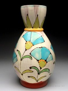 Ursula Hargens Blue Tulip Vase at MudFire Gallery