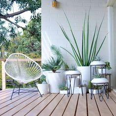 ** Metal | Powder Coated | Plant Stand | Mid Century | Modern