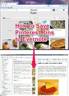 Tips & Tricks: How to Save Pins to Evernote. Computer Programming, Computer Tips, Recipe Organization, Tips & Tricks, Pinterest Pin, Evernote, Internet Marketing, Media Marketing, Digital Marketing
