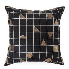Black Grid Cushion