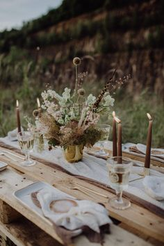 This fall elopement styled shoot from Julia and Gil Photography and team of leading German industry professionals in an abandoned quarry in Germany Wildflower Centerpieces, Wedding Centerpieces, Wedding Decorations, Table Decorations, Tuscan Wedding, Rustic Wedding, Floral Wedding, Wedding Flowers, Industrial Wedding Decor