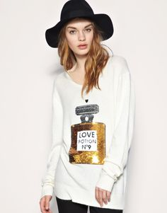 Potion No.9 Perfume Bottle Sequined Knitted Sweater Taylor swift