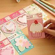 Flower Cake Heart Pattern Self-Stick Note(Ran... – USD $ 1.09