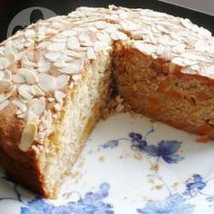 This is a delicious moist cake which my family love. I liked the idea of almonds and apricots together so brought this recipe together. I used tinned apricots, but dried or fresh ones could also be used. To economise, I bought flaked almonds from a low cost German supermarket and ground them myself.
