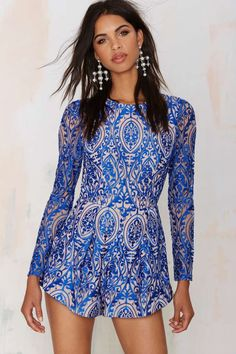 The Jetset Diaries Sunset Embroidered Romper | Shop Clothes at Nasty Gal!