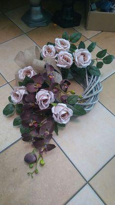Kwiaty - #kwiaty - #kwiaty Flower Wreath Funeral, Funeral Flowers, Funeral Flower Arrangements, Floral Arrangements, Grave Flowers, Grave Decorations, Funeral Tributes, Christmas Flowers, Holidays And Events