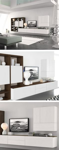 Anyone who wants to get their wooden piece of furniture from Livitalia before Christmas, … – Modern Bedroom Decoration Living Room Grey, Home And Living, Tv Unit Decor, Modern Bedroom Decor, Cool Walls, Wall Shelves, Family Room, Skandinavisch Modern, Interior