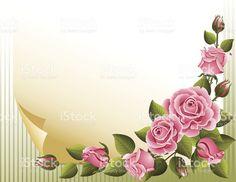 Roses background royalty-free stok vektör sanatı