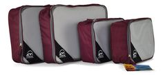 Amazon.com: Trek2Trak Packing Cubes Set Of Four, High Quality Travel Accessories Use Them In Your Backpack, Travel Gear, Camping Gear and Hiking Gear 100% Money Back Guarantee (Charcoal): Clothing