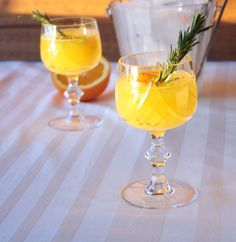 Happy Friday y'all! We have come to the close of another long week, and  nothing says Friday like a new cocktail. Here I've gone 'orange forward'  using rich citrus flavour and a dash of Dillon's Pear Bitters to make a  vitamin C packed tipple that I sure think will keep any seasonal colds at  bay. Paired with a wintery rosemary simple syrup, this will do ya better  than a flu shot. **Not medical advice!!! Get your damn flu shot – just  enjoy this afterwards!
