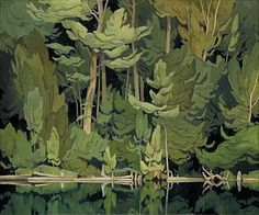 """rubenista: """"Shore Pattern by A. Casson This remarkable & compelling work by century Canadian artist & Group of Seven member A. Casson is currently exhibited in the McMichael. Tom Thomson, Canadian Painters, Canadian Artists, Art And Illustration, Landscape Art, Landscape Paintings, Group Of Seven Art, Group Of Seven Paintings, Emily Carr"""