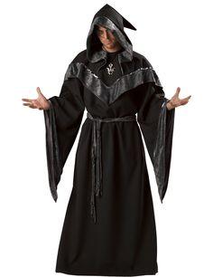 Travestimento da stregone oscuro per uomo - Halloween: un travestimento bello e curato nel dettaglio per incutere timore e suscitare brividi in tutti i tuoi invitati la sera del 31 ottobre!