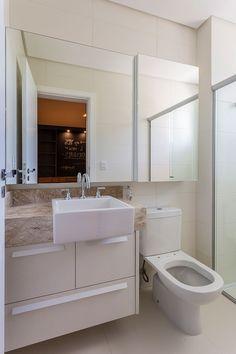 Decoração, decoração de apartamento, apartamento, ambiente integrado, banheiro, banheiro decorado, decoração de banheiro, lavabo, banheiro branco.