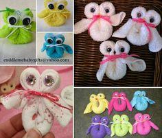 Owl Washcloths