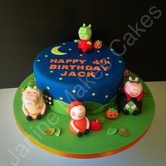 Zombie Peppa Pig halloween birthday cake