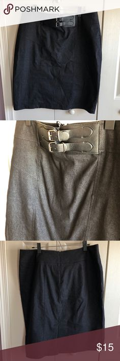 New York Clothing Co Pencil Skirt GUC- Between A very dark Grey or Black New York Clothing Co Skirts Pencil