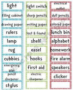 Free Dr. Seuss classroom labels