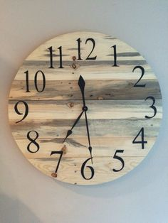 A personal favorite from my Etsy shop https://www.etsy.com/listing/458532926/rustic-pine-wood-pallet-clock-28