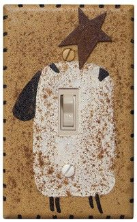Light switch cover. Adorable.