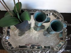 How to clean your silver platter using baking soda and water. No need for expensive messy chemicals.