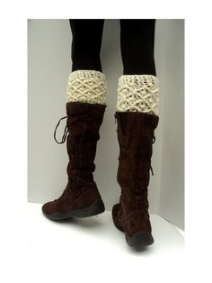 Diamond Dot Crochet Boot Cuffs- too bad I have no idea how to make these!