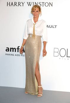 Uma Thurman in Armani