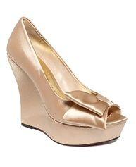 Wedding Wedges from Macys. #wedding #shoes #wedge