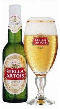 Cerveja Stella Artois, cerveja belga clara produzida no Brasil