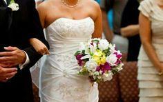 Silk hand tied bridal bouquet.