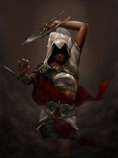 Les plus beaux fan arts d'Assassin's Creed au féminin - Miguel Mercado