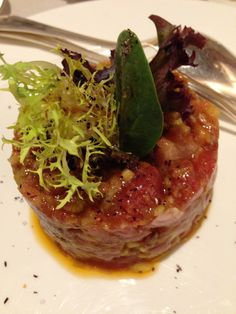 Tuna tartare, a bit heavy on the wasabi soy