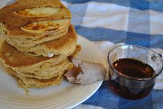 Whole Wheat Apple Pancakes with Cocoa Coconut Butter