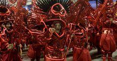 """A escola de samba levou à avenida o enredo """"A Grande Rio é do Baralho!"""" na primeira noite do Grupo Especial do Carnaval carioca"""