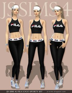 [JS SIMS 4] Fila Logo Sporty Set | JS SIMS
