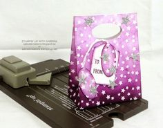 Stampin' Up With Sabrina: New Gift Bag Punch Board & the Large Oval Punch.