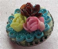 Vintage 1940''s Button Made of Painted Shells Lovely! from ...
