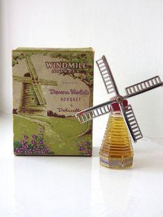 BOXED VINTAGE NOVELTY PERFUME - DEVON VIOLETS BY DELAVELLE - WINDMILL SHAPE | eBay