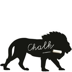 Chalkboard magnetic wall sticker lion by Groovy Magnets