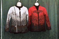 Sue Stone quilted and pieced jackets.
