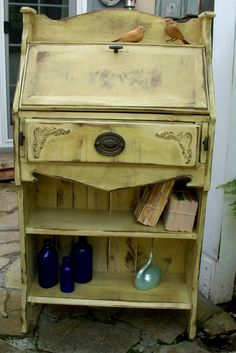 Handmade Desk and Bookcase  Antiqued and Shabby por honeystreasures, $1200.00