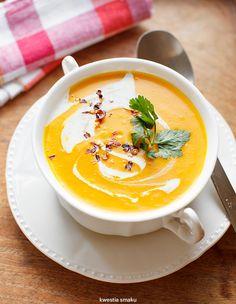 Hm, co by dzisiaj ugotować? 🤔 Pierwszą w tym roku dyniową! Link do przepisu… Soup Recipes, Vegetarian Recipes, Cooking Recipes, Healthy Recipes, Recipies, Chicken Thigh Recipes, Polish Recipes, Pumpkin Soup, Food Pictures