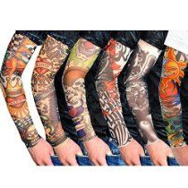 Dedicated Skin Proteive Stretchy Faketemporary Tattoo Sleeves Arm Stockings Design 10 Styles Mix Nylon Men Unisex Fashion Arm Warmer Men's Accessories Apparel Accessories