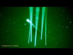 """UFO Filmed in Australia Through A Series Of Night Vision Lasers 