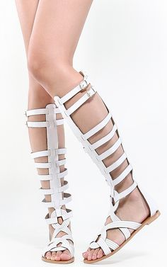 Gladiator sandals, love the weaving detail on the front.  | MakeMeChic.com