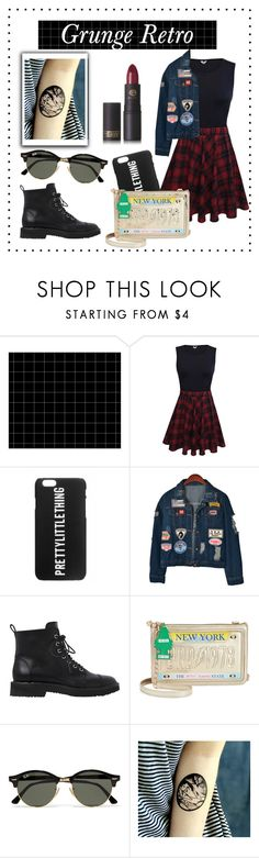 """""""Grunge Retro"""" by polyvore-greece ❤ liked on Polyvore featuring Chicnova Fashion, Giuseppe Zanotti, Betsey Johnson, Ray-Ban, Lipstick Queen, cool, tumblr and grunge"""