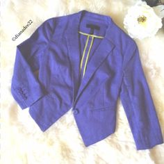 Jessica Simpson purple blazer size 1/2 Brand new without tags Jessica Simpson blazer size 2....     55% Linen 45% cotton perfect and breathable for spring Jessica Simpson Jackets & Coats Blazers