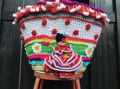 NL/UK/US tutorial crochet pattern bag tas haakpatroon door Pollevie Crochet Edgings, Crochet Diagram, Crochet Patterns, Spanish Pattern, The Happy Hooker, Tutorial Crochet, Magic Circle, Unique Bags, Crochet For Beginners