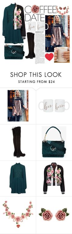 """""""Coffee with Bae"""" by yeenie ❤ liked on Polyvore featuring WithChic, Stuart Weitzman, Fendi, Perseverance London, Dolce&Gabbana, MINX, contest, fendi, CoffeeDate and statementbags"""