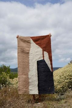 Karu X Frances V. Abstract Landscape Mohair Rug on Garmentory African Rugs, African Interior, Goat Farming, Textiles, Aerial View, Abstract Landscape, Home Textile, Fiber Art, Hand Weaving