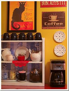 a coffee bar..love this idea! I will do this one day.